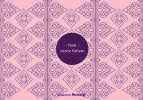 Vector de padrão tailandês grátis