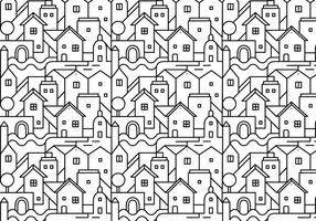 Abstract city pattern background vector