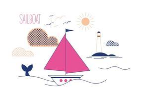 Vecteur de bateau à voile gratuit