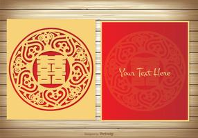 Tarjeta de boda china