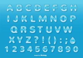 Water Style Font / Alphabet Set