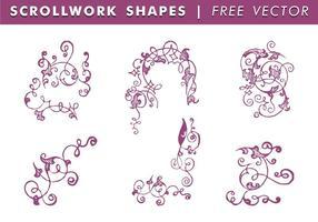 Scrollwork Shapes Freier Vektor