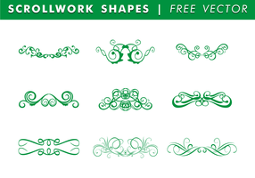 Scrollwork Shapes Free Vector