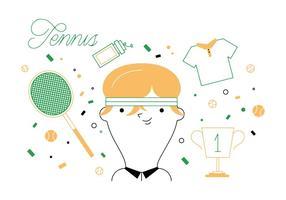Vector libre Tenis