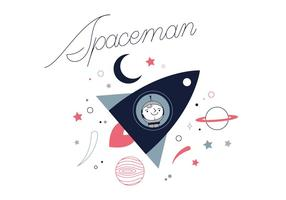 Gratis Spaceman Vector