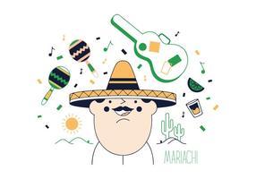 Mariachi vettoriale gratuito