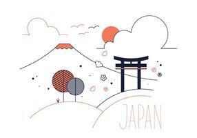Vector libre de Japón