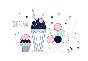 Vector de sorvete gratuito