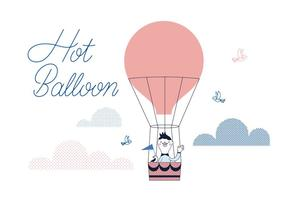Free Hot Ballon Vector