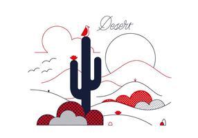 Vector libre del desierto