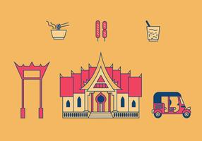 Bangkok Vektor-Illustrationen