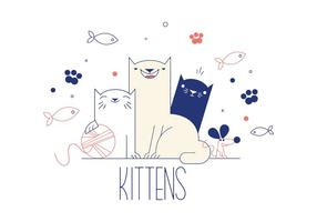 Freie Kätzchen Vektor