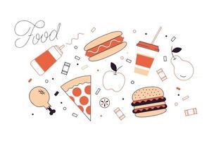 Vector libre de la comida
