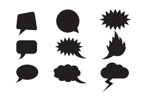 Free Speech Clouds Formas Vectoriales vector