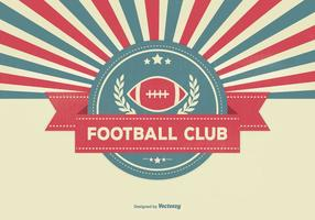 Retro Sunburst Style Football Club Illustration