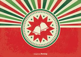 Retro Sunburst Christmas Illustratie