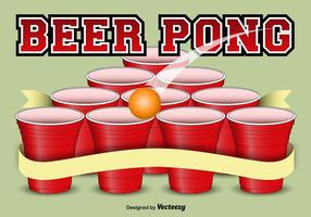 Beer pong template background vector