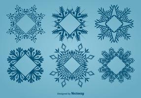 Decoratieve sneeuwvlokvormige frames