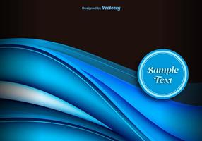 Blue abstract waves background vector