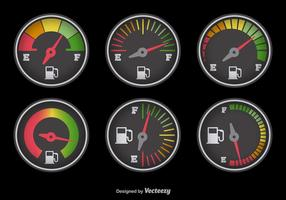 Fuel gauge with colors vector