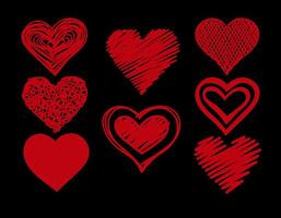 Conjunto de corações do Doodle