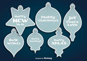 Autocollants de boules de Noël