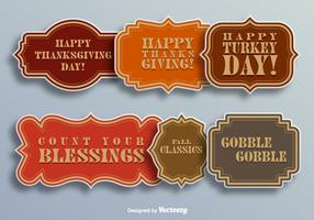 Thanksgiving day elements vector