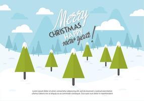 Gratis Kerst Achtergrond Illustratie Met Typografie