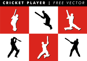 Cricket Player Free Vector