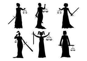 Dame Gerechtigkeit Vektor