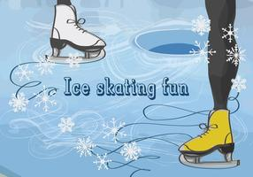 Vector Background with Feet in Figure Skates