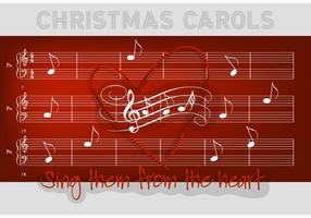 Free Christmas Carols Vector Hintergrund