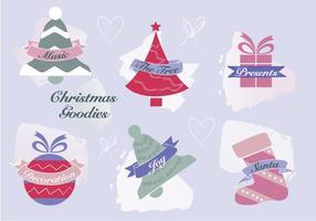 Fundo de vetores de elementos de Natal grátis