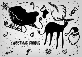 Free christmas doodles vektor backgorund