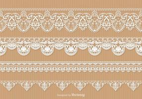 Free Lace Trim Vektor Set