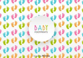 Baby Footprints Vector Pattern