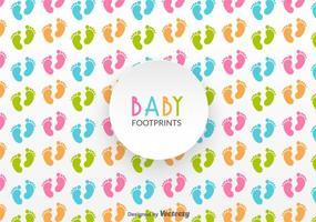 Baby Footprints Vector Pattern