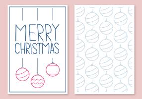 Vettore di cartolina di Natale gratis