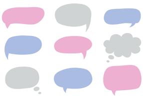 Vector libre burbujas de diálogo