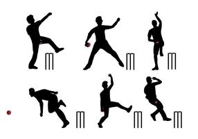 Cricket-Spieler-Vektor