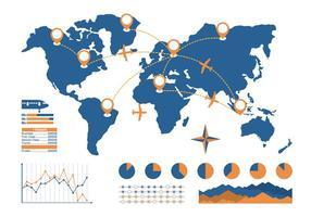 Vector de Informe Anual de Aerolíneas