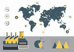 Vector de informe anual de fábrica