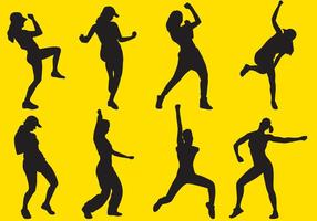 Zumba Silhouettes vector