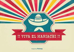 Viva El Mariachi Achtergrond Illustratie