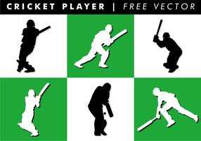 Cricket Player Gratis Vector