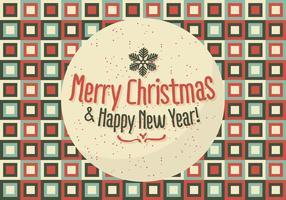 Ilustración libre de antecedentes de Navidad con tipografía