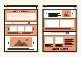 Gratis webbmall vektor bakgrund