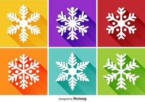Snowflakes Flat Icons vector