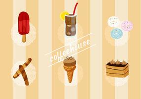 Set gratuito di elementi vettoriali Coffee House