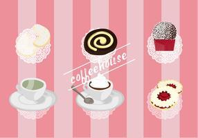 Free Set von Kaffee Haus Vektor Elemente